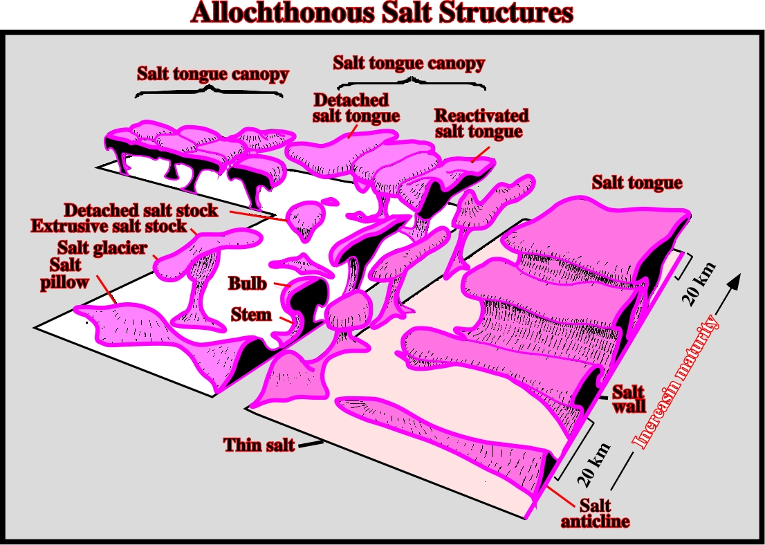 110- Block diagram showing the majority of the allochthonous salt structures. The structural maturity and size increases toward the composite ...  sc 1 st  Universidade Fernando Pessoa & IntroSysStrat7